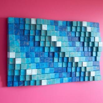 3д Картина панно з дерева в сучасний інтер'єр мінімалізм