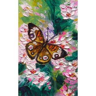 "Картина олією ""Метелик у вишневому саду"""