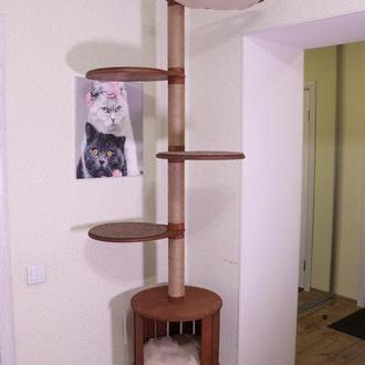 Вежа для кішок, вежа для кота, від підлоги до стелі «Master Tower» (Комплект «Медіатор»)