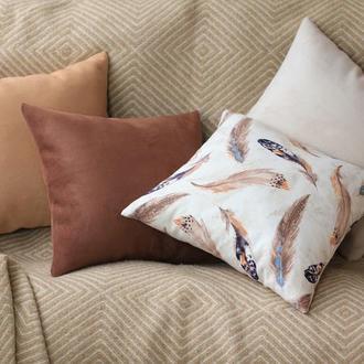 Набор декоративных подушек (чехлов) Перья