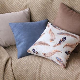 Набор декоративных подушек (чехлов) Перья (2)