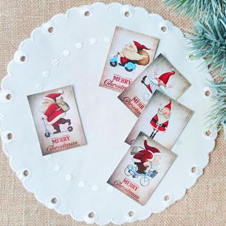 "Бирки декоративные ""Merry Christmas"". 5  шт"