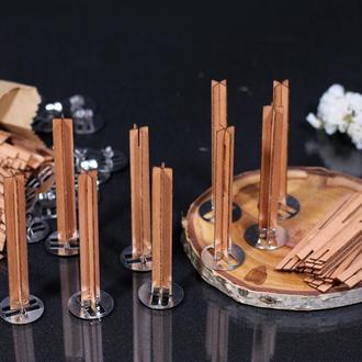 Деревянные фитили для свечей высота 80мм ширина 10мм , Фитиль для соевых свечей
