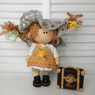 Кукла-малышка Пеппи длинныйчулок 19 см