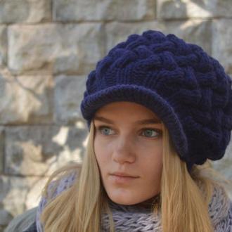 В'язана кепка Зимова плетінка