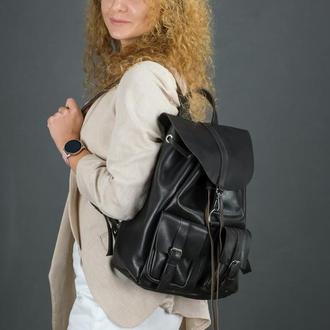 """Женский кожаный рюкзак """"Джейн"""", кожа итальянский краст, цвет кофе"""