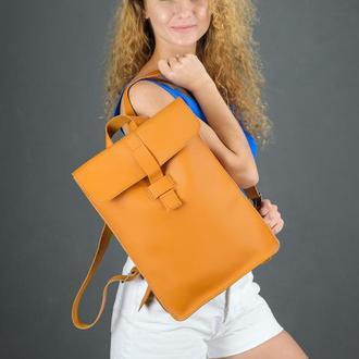 """Жіночий шкіряний рюкзак """"Сідней"""", шкіра Grand, колір бурштин"""