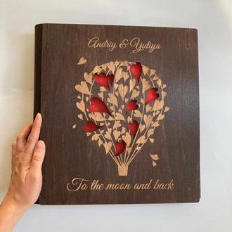 Альбом для фото 34х33,5 см | Подарунок на весілля | FILWOOD | Альбом для фото