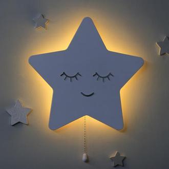 Ночник Звезда в детскую. Светильник для детской. Декор для детской комнаты. Детский ночник