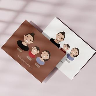 Иллюстрация портрет на заказ мультяшные смайлики стикеры