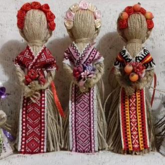 "Handmade. Кукла-мотанка ""Берегиня"" Подарок-оберег в дом. Рост 10-26 см."