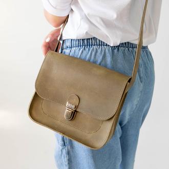 Женская сумка через плечо ручной работы из натуральной винтажной кожи