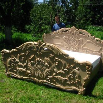 Кровать ручной работи, резьба, натуральное дерево