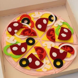 Піца з фетру/ Пицца из фетра/ Игровая еда