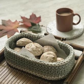 Корзина овал декоративная для конфет печенья хлеба, современный модный декор для дома