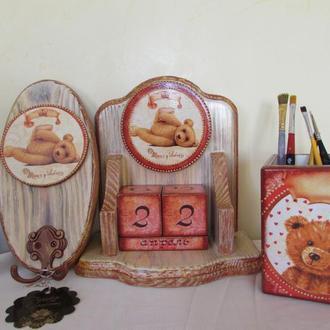 Набор из 3-предметов Медвежата