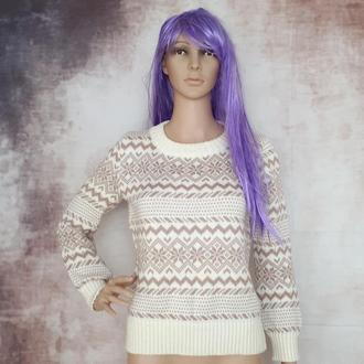 жаккардовый свитер, норвежские узоры