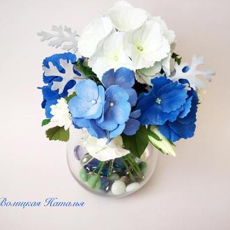 Букет цветов Голубая лагуна
