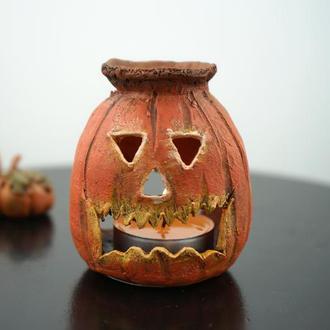 Аромалампа тыква Halloween crafts подарок на Хэллоуин