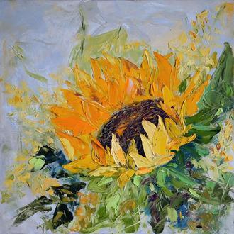 """Сучасна картина """"Осінній соняшник"""""""