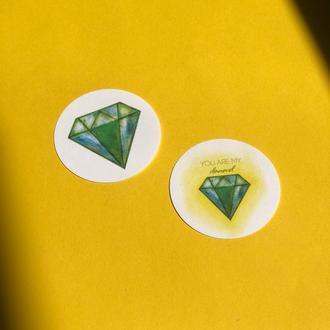 "Набір круглих наклейок ""Diamond"""
