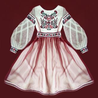 Детское праздничное платье с вишивкой АПРЕЛЬСКИЙ ЦВЕТ . Вышиванка. Платье в школу