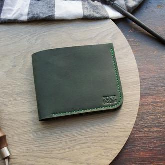 Шкіряний гаманець (Зелений) Middler