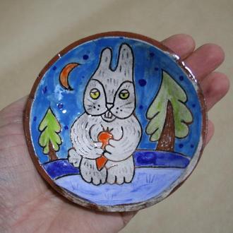 "Керамічна тарілка ""Заєць"""