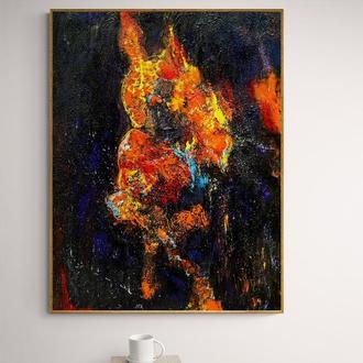 """Рисунок живопис на дереві """"Вогненний скорпіон"""""""