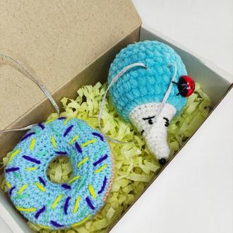 Ёлочные украшение, подарок на ёлку, игрушки в подарок, подарок под ёлку.