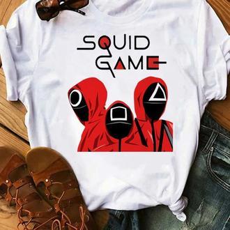 Футболка с принтом Мерч Игра в кальмара (오징어게임) Squid Game 24 Push IT