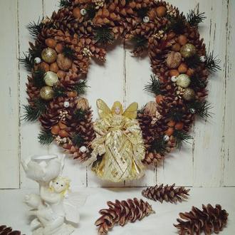 Интерьерный венок ′Рождественское чудо′