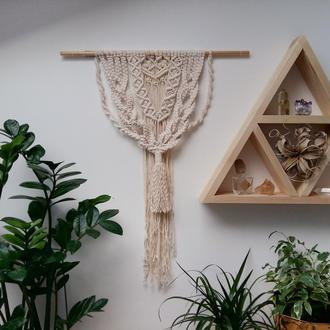 Настенное панно, гобелен, макраме, декор для дома и интерьера