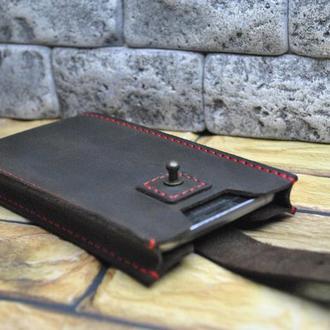Кожаный чехол для смартфона H07-450+red