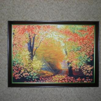 """вышитая бисером картина """"Разноцветная осень"""""""