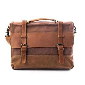 """Деловая сумка GRAND. Портфель для документов и планшета 13"""". Стильный винтажный дизайн."""