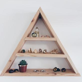 Деревянная полка. Полка-треугольник