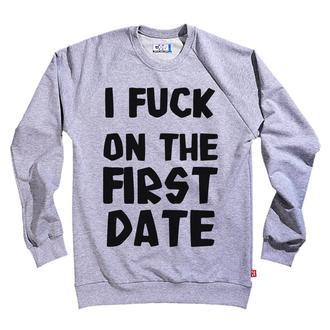 Свитшот с авторским принтом First Date