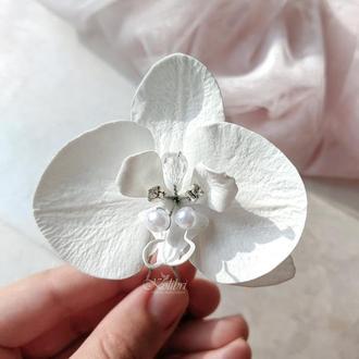 Заколка для волос с цветком ручной работы