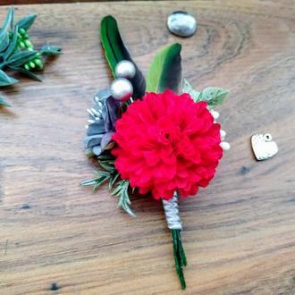 Бутоньєрка для нареченого Бутоньєрка для свідка Весільні бутоньєрки