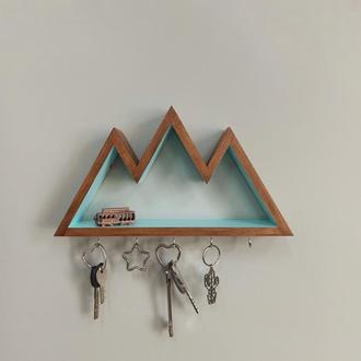Настінна ключниця-поличка Big Mountains у двох кольорах