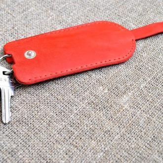 Ключница красного цвета из натуральной кожи KL01-580