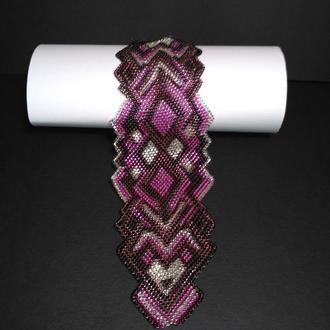 Фиолетовый браслет в этно стиле