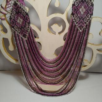 Фиолетовый гердан в этно стиле