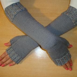 Митенкие - перчатки зимние - dazzling silver