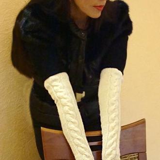 Митенки - перчатки белая классика