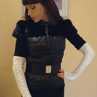 Мітенки - рукавички біла класика