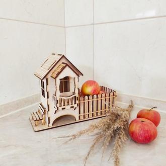 Чайный домик с конфетницей. Оригинальный подарок.