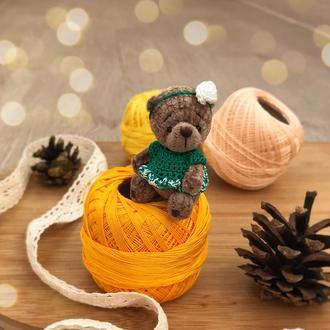 Маленький мишка, миниатюрная игрушка медведь тедди в платье сувенир подарок