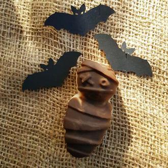 «Млечный путь» натуральное мыло, с нуля. В форме мумии. К Halloween или к хэллоуин.